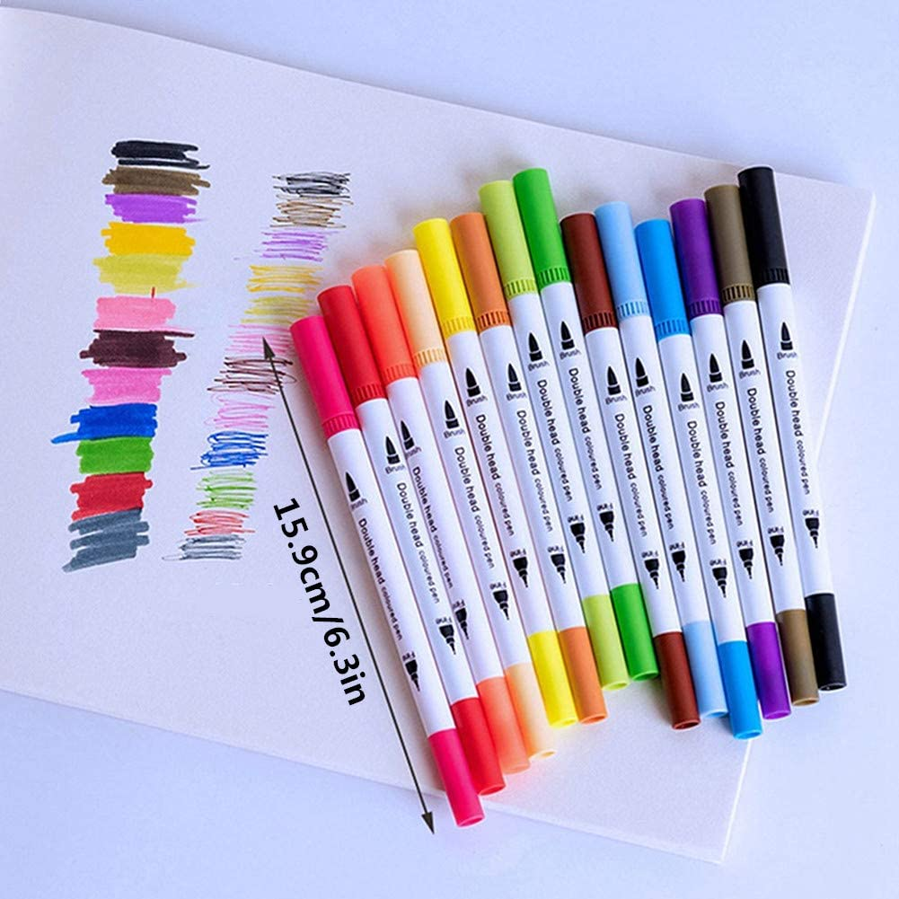 OVsler Penne Gel Pennarelli Acquerellabili Penne Colorate Penne Colorate Gel Brush Pen Lettering Penne Gel Colorate Pennarelli Lettering Pennarelli Brush 12