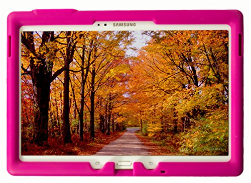 BobjGear Bobj Rugged Case for Samsung Galaxy Tab S 10.5 Tablet Models SM-T800, SM-T805, SM-T807 Custom Fit - Patented Venting - Sound Amplification - BobjBounces Kid Friendly (Rockin Raspberry)