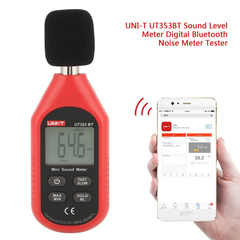 UNI-T UT353BT Sound Level Meter Digital Bluetooth Noise Meter Tester 30-130dB Monitoring Sound,with Bluetooth Function. by Hilitand (Image #3)