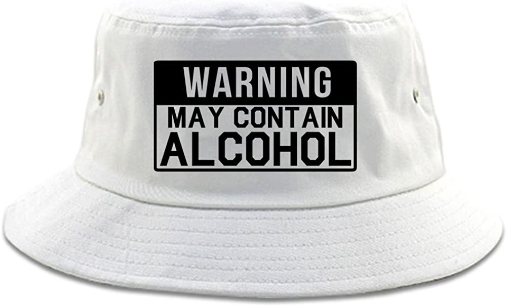 Kings Of NY Warning May Contain Alcohol Bucket Hat