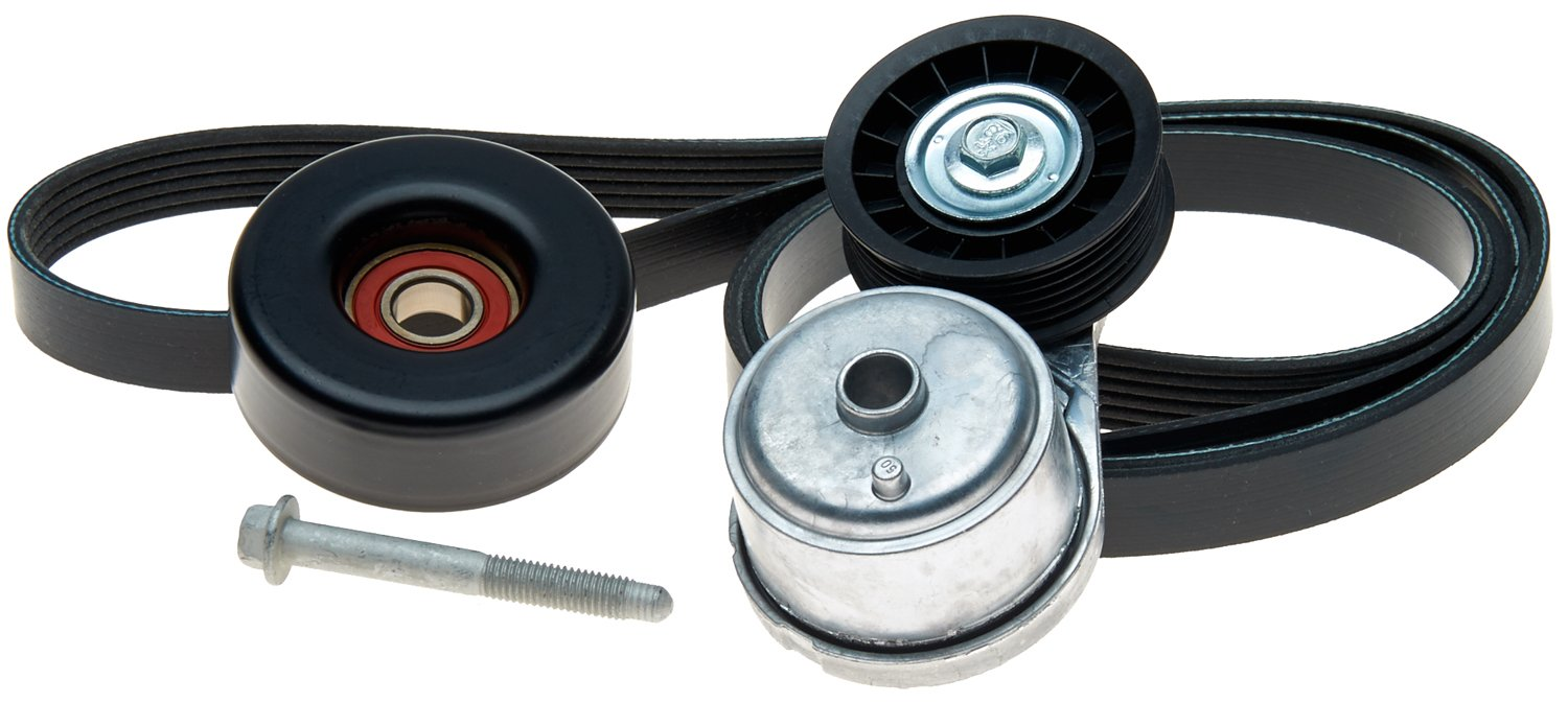 and Bolt Pulley Belt ACDelco ACK060966 Professional Automatic Belt Tensioner and Pulley Kit with Tensioner