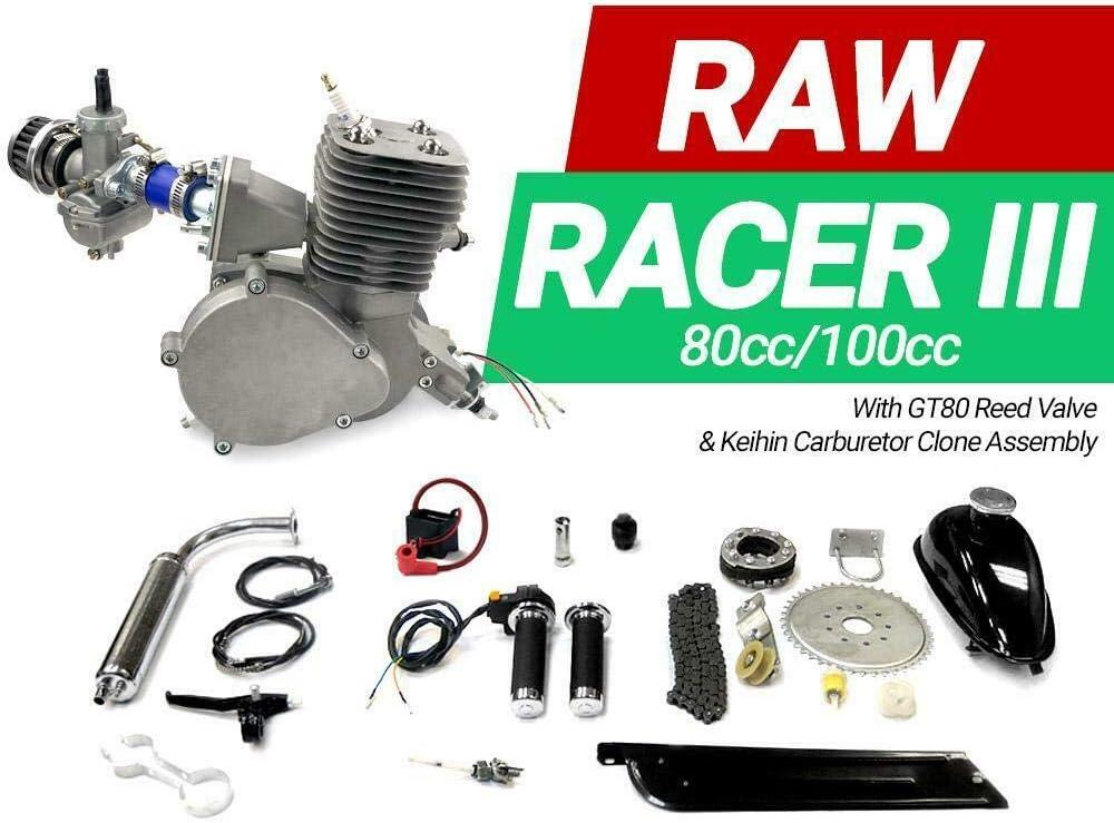 KingsMotorBikes Raw Racer III 80cc/100cc Kit de Motor de Bicicleta ...