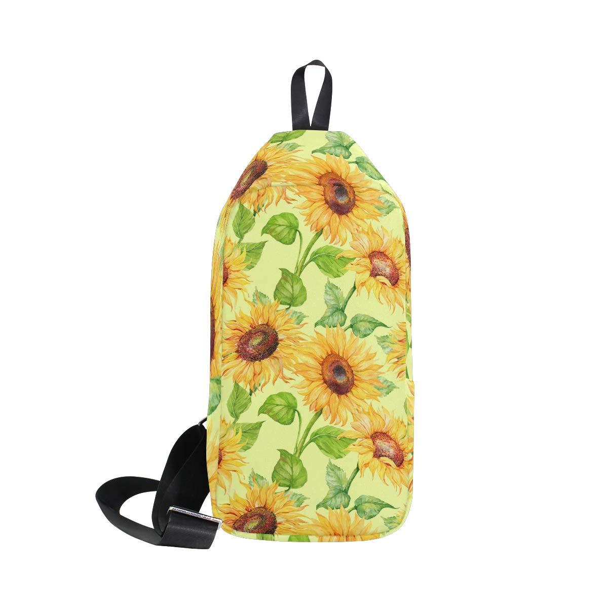 TFONE Sunflower Flower Floral Crossbody Bag Lightweight Chest Shoulder Messenger Pack Backpack Sling Bag