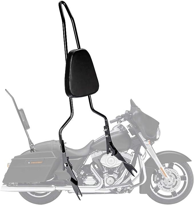 Psler Rückenlehne Sissy Bar Beifahrer Rückenlehne Motorrad Hinten Abnehmbare Rückenlehne Für Touring Road King Street Glide 2009 2020 Auto