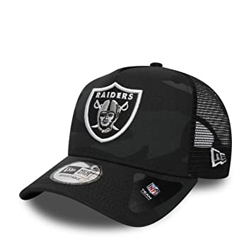 7a9c2e1e7567b New Era Adjustable Trucker Cap - Oakland Raiders dark camo - One Size