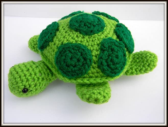 Amigurumi Turtle : Amazon child s crocheted stuffed amigurumi toy animal plush