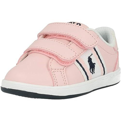 Polo Ralph Lauren Oaklynn EZ Rosa/Azul (Light Pink/Navy) Smooth ...