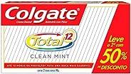 Creme Dental Colgate Total 12 Clean Mint 90g Promo 2 un c 25% de desconto