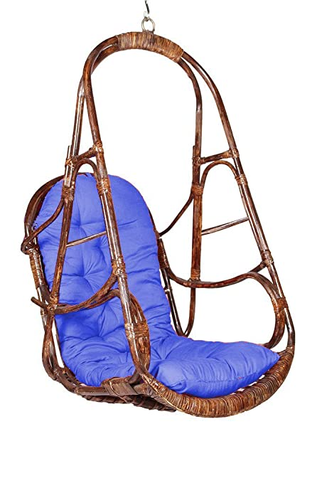 VIRASAT FURNITURE & FURNISHING Swing Chair with Cushion and Hook (Brown)