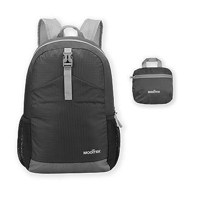 Mooitektm Plus durable 22L/33L Ultra léger pliable Sac à dos résistant à l'eau Sac à dos pour homme ou femme petit sac à dos pratique pliable Petit sac pour camping Sport Voyage rando