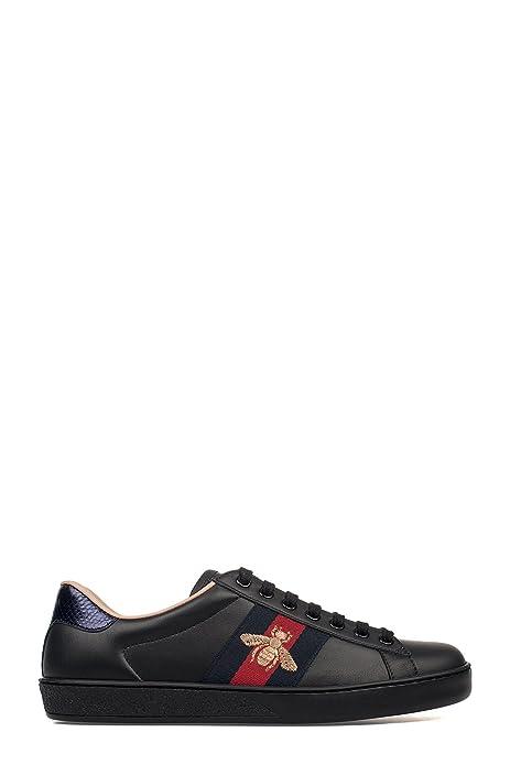 Gucci Sneakers Uomo 429446A38G01284 Pelle Nero  Amazon.it  Scarpe e borse 7bac5135a394