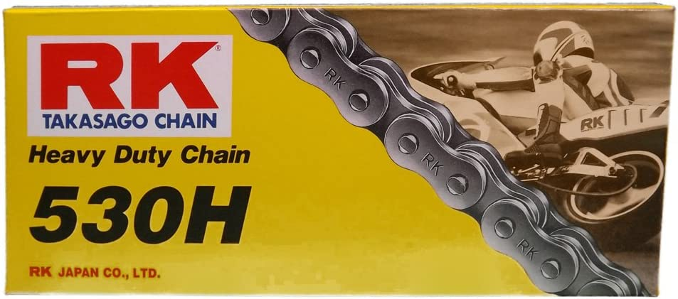 RK Racing Chain M530HD-70 530 Series Steel 74-Link Standard Non O-Ring Chain with Connecting Link