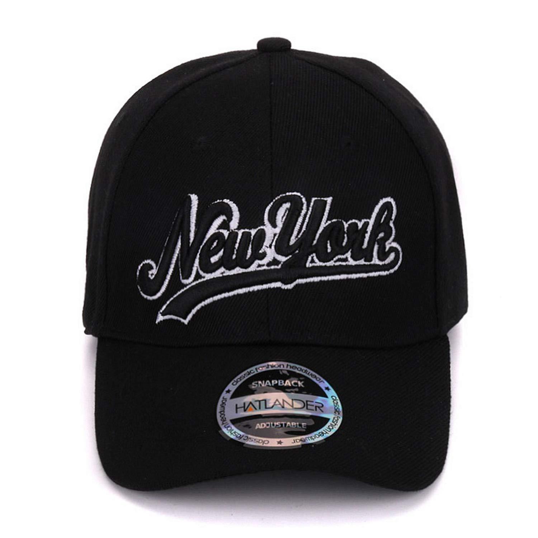New York Black Baseball caps Las Vegas Adjustable Sports Cap Gorras Chapeau Hats Letter Casual caps Unisex at Amazon Womens Clothing store: