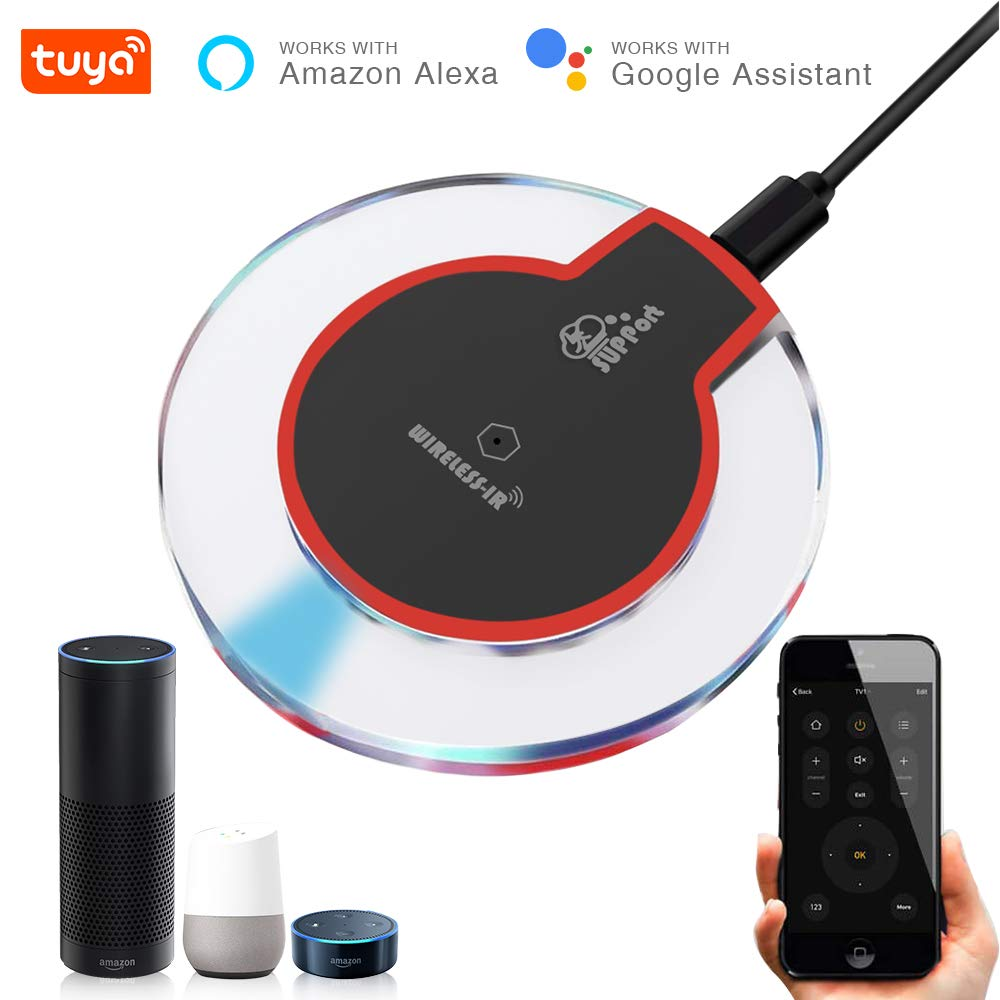 EACHEN IR Control Hub Wi-Fi(2.4Ghz) Enabled Infrared Universal Remote Controller For Air Conditioner TV DVD Using Tuya Smart Life APP Compatible with Alexa Google Home IFTTT (IR-DC6)