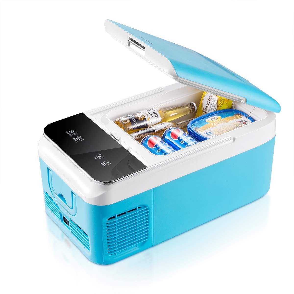 Ausranvik Car Fridge Portable Freezer (16 Quart), 12V Fridge, -4°F~50°F, DC 12V and AC 110V Compatible, Digital Touch Control