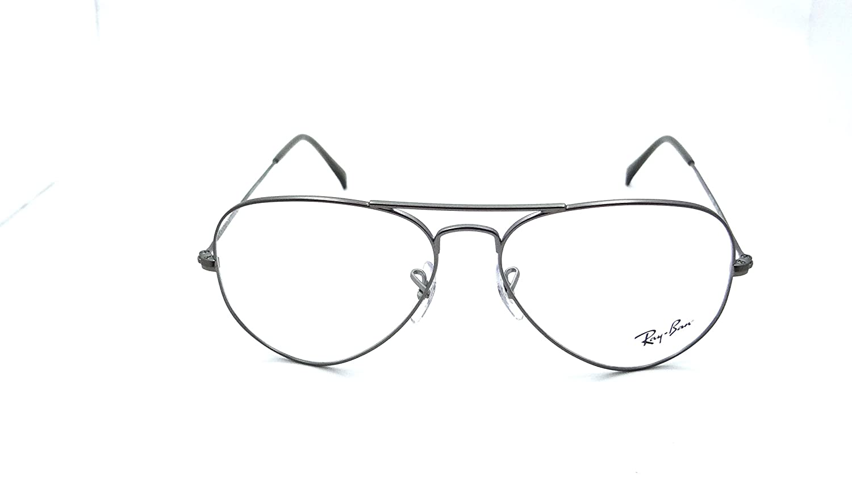 45f937bff828 Ray-Ban Rx Eyeglasses Frames Rb 6049 2620 55x14 Matte Gunmetal Aviator:  Amazon.ca: Clothing & Accessories