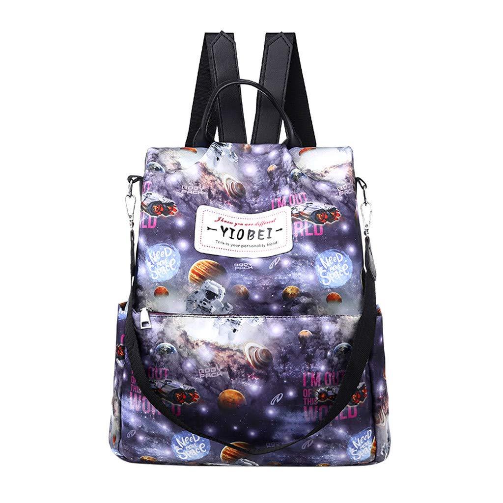 YEZIJIN Women's Fashion Shoulders Student Bag Casual Fashion Wild Large Capacity Retro for Girls Kids Boys Women