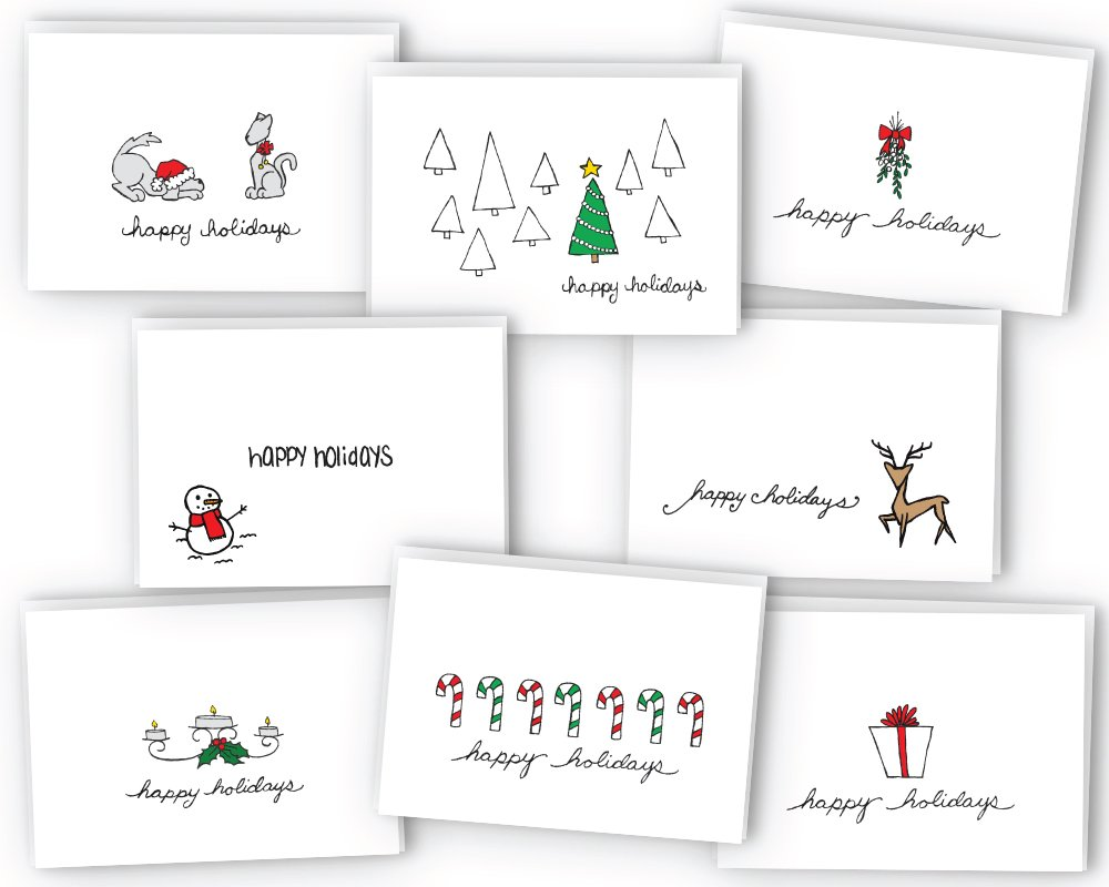 Amazon Happy Holidays Greeting Cardgift Tag Collection 24