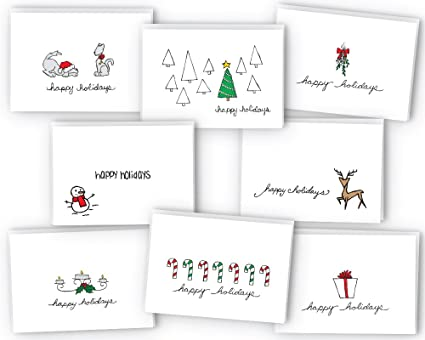 Amazon happy holidays greeting card gift tag collection 24 happy holidays greeting card gift tag collection 24 cards envelopes m4hsunfo