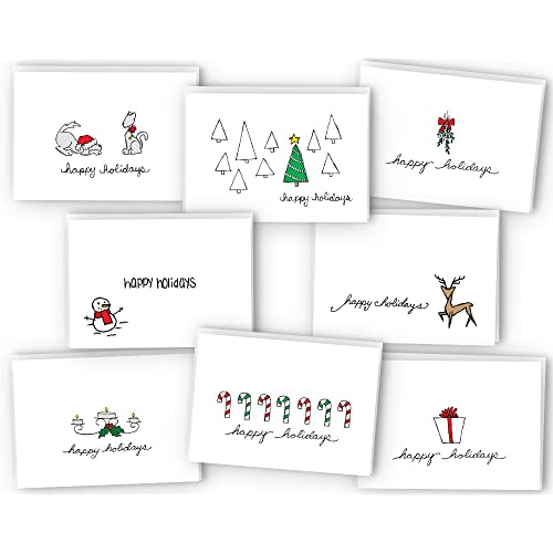 happy holidays greeting cardgift tag collection 24 cards envelopes - Papyrus Holiday Cards