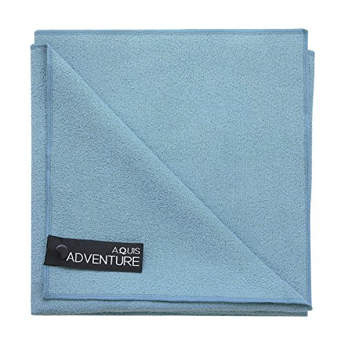(Aquis - Adventure Microfiber Sports Towel, Quick-Drying Comfort Great For Gym, Travel or Camping Towel, Seafoam (Large/19 x 39 Inches))