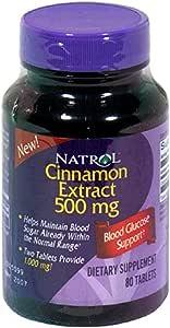 Natrol Cinnamon Extract 500mg, 80 Tablets