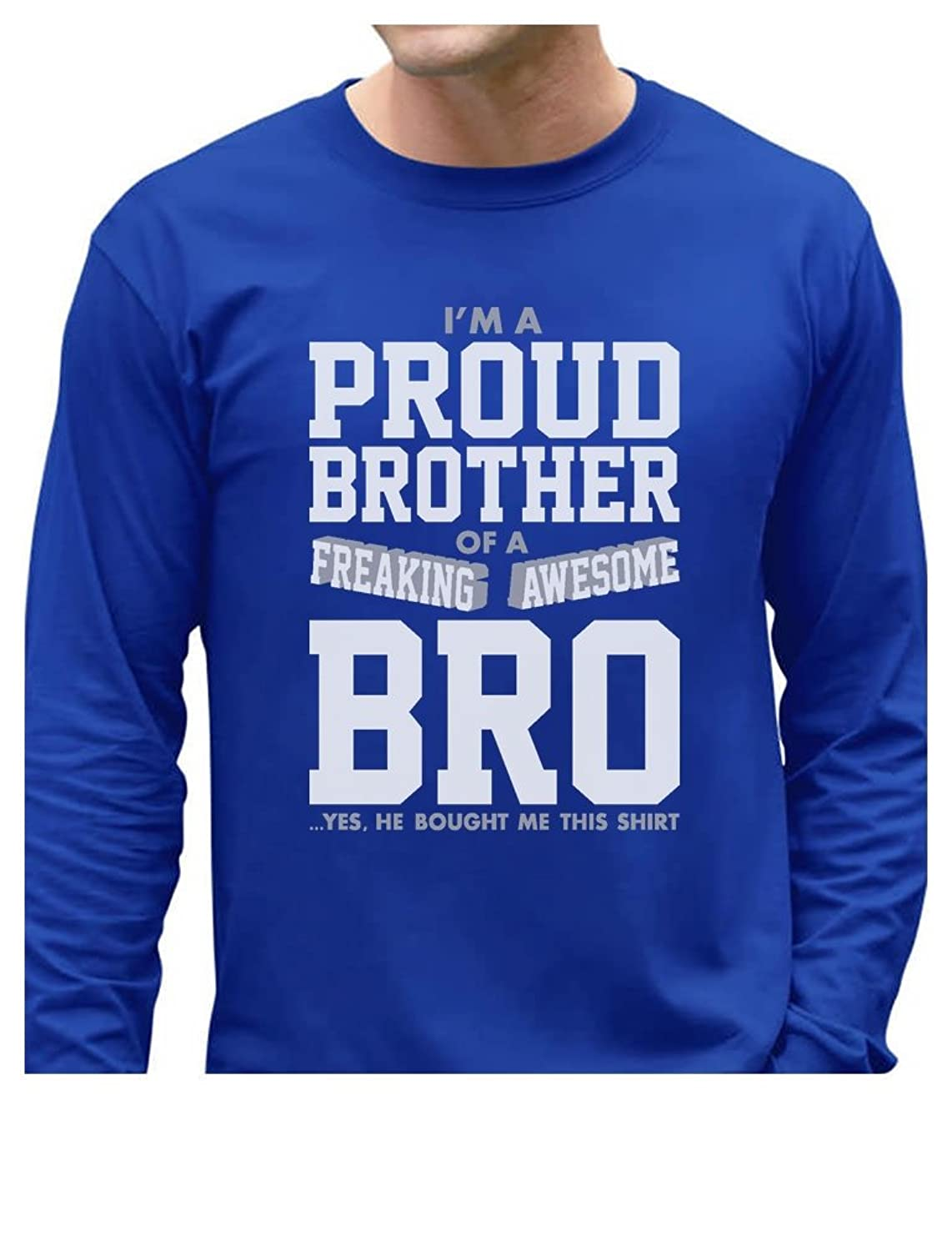 TeeStars - Proud Brother Of A Freaking Awesome Bro Siblings Long Sleeve T-Shirt