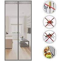 Wghz Feng Magnetic Door Door, Cortina de Malla Cierre automático, ventilación de adsorción magnética para Sala de Estar, Puerta de Patio - 150X220cm