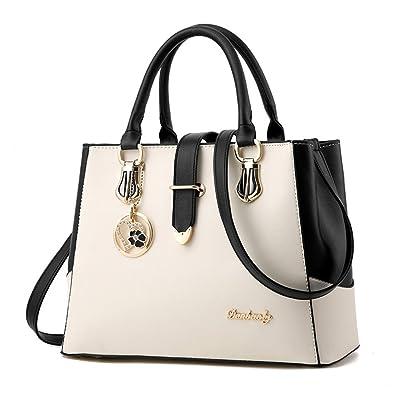 BAOFASHION Womens PU Shoulder Bags Retro Purses Stitching Color Handbags   Handbags  Amazon.com fa93cd3b9ca77