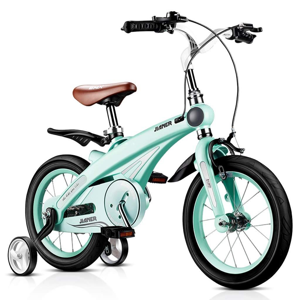 Biciclette per Bambini Moda Biciclette per Bambini Ragazzi E Ragazze Biciclette All'aperto Biciclette per Bambini All'aperto Migliori Regali per Bambini (Colore   blu, Dimensione   14 Inches)