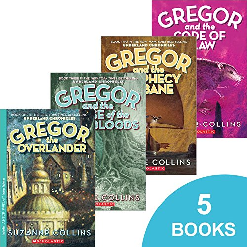 The Underland Chronicles Collection - (Gregor the Overlander, Gregor and the Prophecy of Bane, Gregor and the Curse of the Warmbloods, Gregor and the Marks of Secret & Gregor and the Code of Claw
