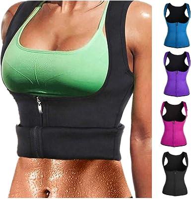 US Neoprene Sauna Hot Corset Women Slimming Shaper Waist Trainer Tank Top Vest