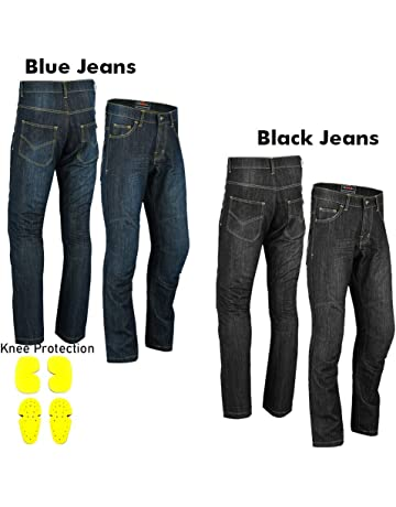 Vaster Men Motorcycle Jeans Motorbike Protective Pants Reinforced Denim Trousers Lined Protective CE Approved HIP /& KNEE Removable Armored Modern-Fit Blue Denim Blue, W36 - L32