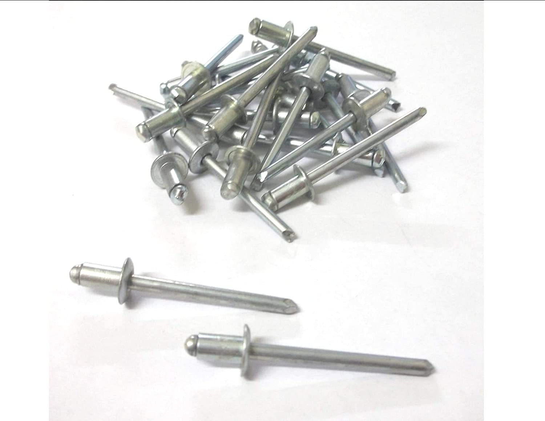 Innovo Rivets Pop en Acier 25/x 4/mm x 10/mm Standard Open Rivets aveugles /à t/ête Ronde