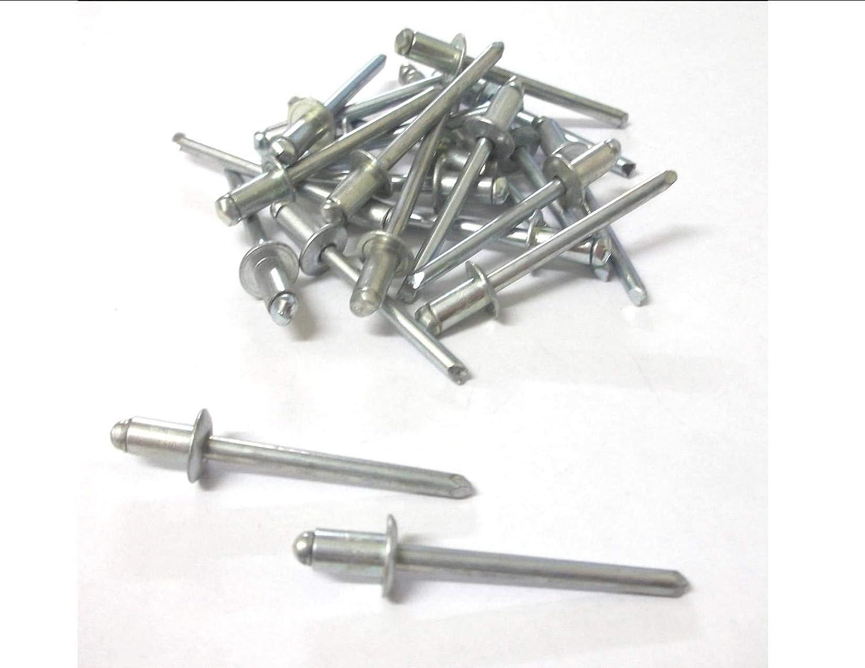 Innovo Rivetti in Acciaio 25/x 4.8/mm x 10/mm Standard Open Rivetti ciechi Dome Testa