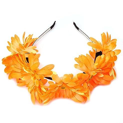 ejy frauen blume haarband hochzeit stirnband zubehà r dekor travel
