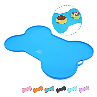 Super Design Silicone Waterproof Placemat - Pet Feeding Mat FDA Grade Silicone Dog Cat Bowl Mat