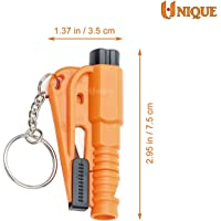 UNIQUE Car Glass Breaker and Seat Belt Cutter-Multi functional Rescue Hammer Life-saving Escape Tool 3 in 1 Emergency Mini Safety Hammer Auto Car Window Glass Breaker Seat Belt Cutter glass breaking hammer for car