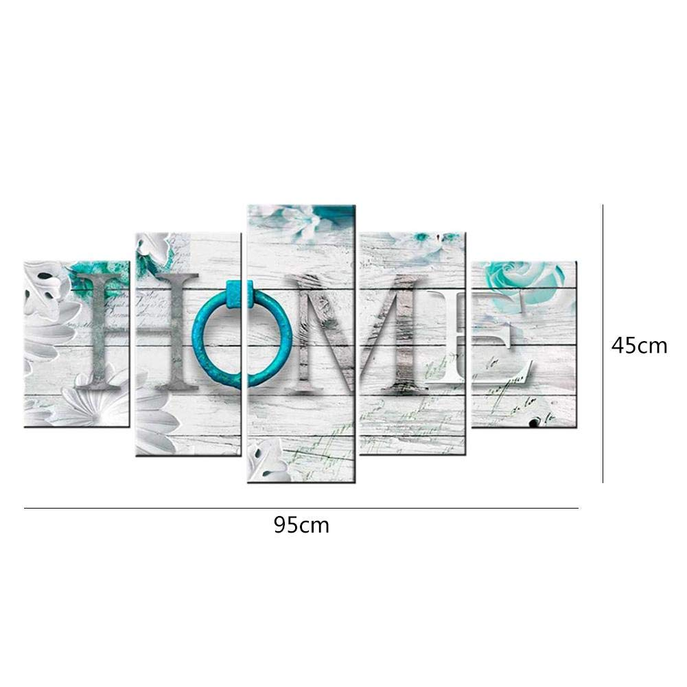 5-Pictures Combinaison Kits créatifs AnySell Home 5d Diamant Peinture complète forets Strass peintures à mosaïque de kit de Broderie au Point de Croix pour Adultes Enfants Enfants Peinture
