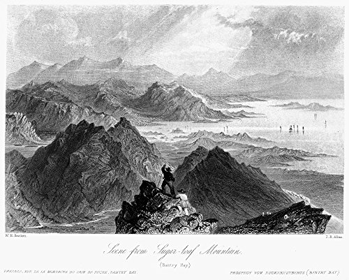 Ireland Sugarloaf C1840 Nview Of Sugarloaf Mountain And Other Peaks Of The Caha Range Overlooking Bantry Bay County Cork Ireland Steel Engraving English C1840 After William Henry Bartlett Poster - Collection Bantry