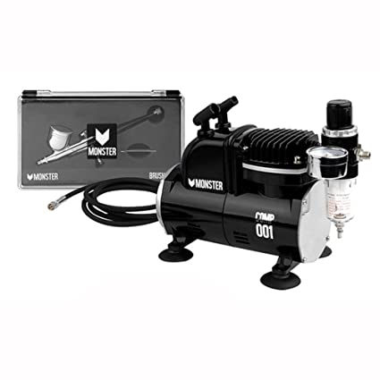 Amazon.com: MONSTER Mini Airbrush Compressor Hose-Paint Spray Gun for Modeling Painting,3D Printing Paint,Pla model,Art Painting 220V: Home Improvement