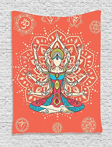 HouseLookHome Yoga Tapestry, Yoga Technique with Ethnic Costume