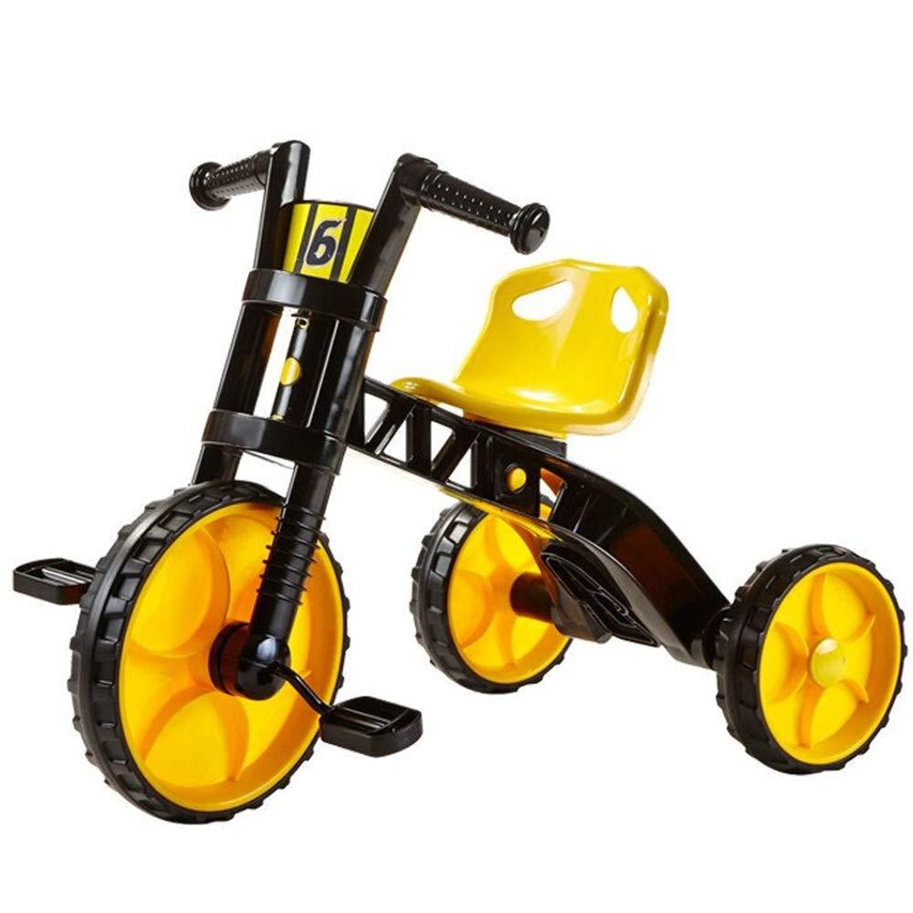 Axdwfd 子ども用自転車 キッズトライク25歳の赤ちゃんの自転車キッズおもちゃ車ギフト男の子と女の子  イエロー いえろ゜ B07Q1VZLT3