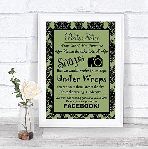 Cartel de boda personalizable con texto en inglés Dont post ...