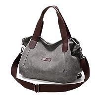 Tote Bag Bolsos Bandolera Bolso de Hombro Callejero Bag Handbag Mujeres, Gris Grande