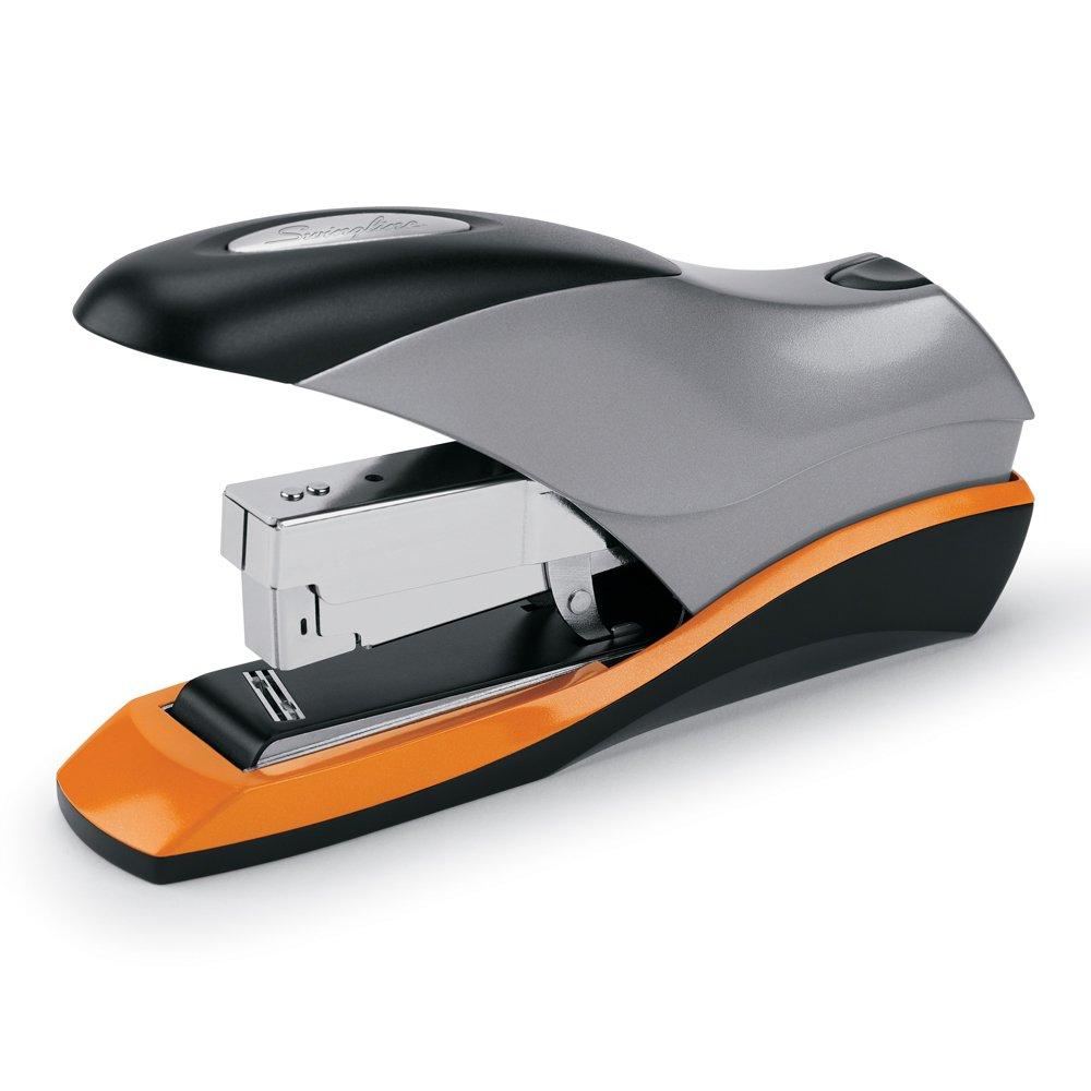 Swingline S7087870 Optima 70 Reduced Effort Desktop Stapler, 70 Sheet Capacity, Jam Free, Retail Packaging (Silver/Black/Orange) ACCO Brands