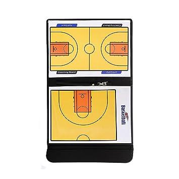 Pizarra magnética y táctica para el entrenador, de cuero perfecto, plegable, para baloncesto, voleibol, balompié/fútbol, de la marca Adesugata