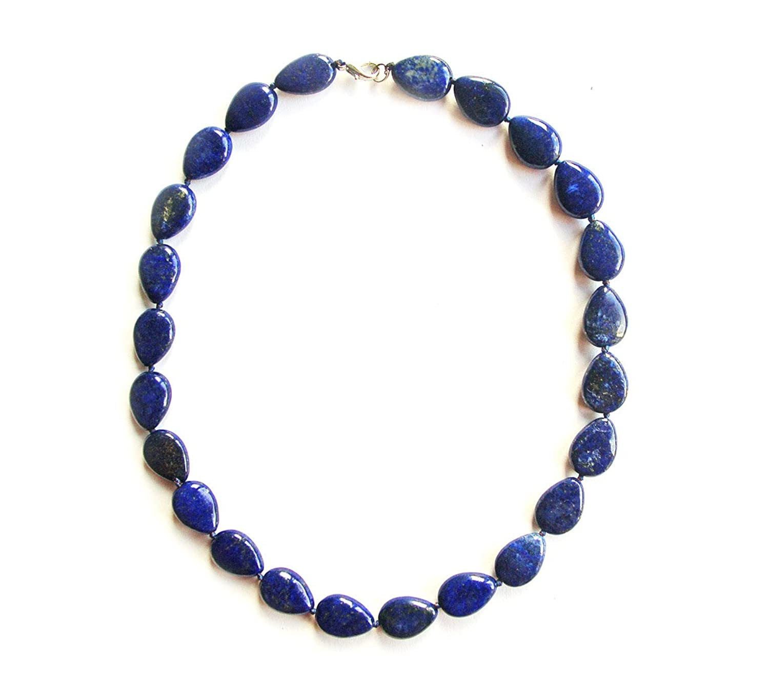 TRENDOMLY Necklace in Lapis Lazuli Blue High-quality and stylish qXZaHrP