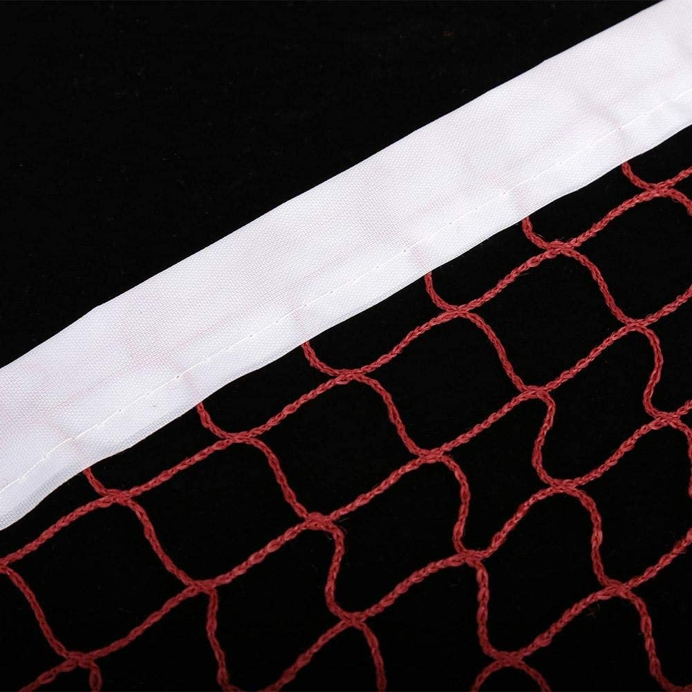 Durable Badminton Mesh Net Filet de badminton pliable Sports de plein air for un entra/înement Divertissement 2 Couleurs Filet de Badminton Professionnel Standard Filet Portable de Badminton Red