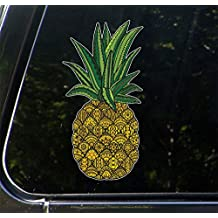 """Patterned Pineapple - Vinyl Decal for Cars 